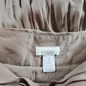 Chico's Skirts - Long brown pleated skirt